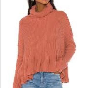 Free People Layer Cake cowl neck sweater NWT